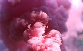 Pink smoke, blurry