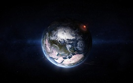 Preview wallpaper Planet, ice, space
