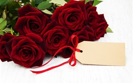 Preview wallpaper Red roses, romance, gift