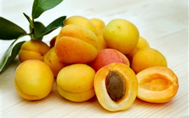 Preview wallpaper Ripe apricots, fruits close-up