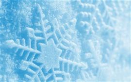 Aperçu fond d'écran Photographie macro de flocon de neige, hiver