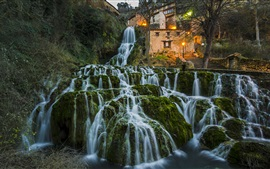 Preview wallpaper Spain, Burgos, waterfalls, beautiful nature landscape