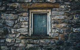 Aperçu fond d'écran Mur de pierres, fenêtre