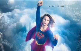 Preview wallpaper Supergirl, her city, her fight