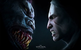 Preview wallpaper The Witcher, face to monster