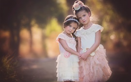 Two lovely little girls, cute child