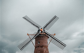 Preview wallpaper Windmill, sky