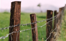 Preview wallpaper Wire fence, water drops