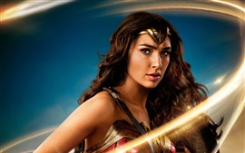 Preview wallpaper Wonder Woman, Gal Gadot, sword, light