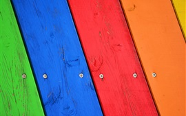 Preview wallpaper Wood board, colorful painted