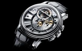壁紙のプレビュー 天頂の腕時計、黒の背景