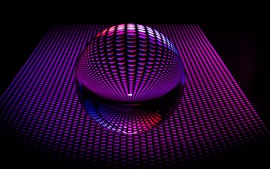 Preview wallpaper 3D purple ball shape