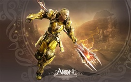 Preview wallpaper AION, Gladiator use halberd