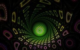 Aperçu fond d'écran Fractale abstraite, balle verte