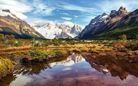 Аргентина, Патагония, озеро, горы, небо, облака, Южная Америка