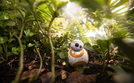 Preview wallpaper BB8 robot, plants, toy, Star Wars