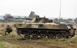BMD-2 Vehículo soviético de combate de infantería aerotransportada, ruso
