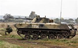 BMD-2 veículo de combate soviético de infantaria no ar, russo
