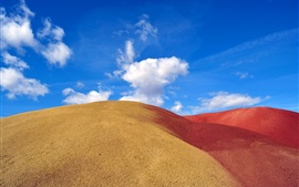 Preview wallpaper Barkhan desert, sand, sky, clouds
