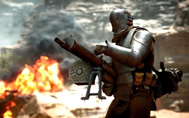 Battlefield 1, soldiers, machine gun