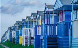 Preview wallpaper Beach houses, dusk