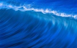 Preview wallpaper Blue sea, waves, water splash, nature