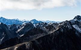 Канада, пик, заснеженные горы, природный ландшафт