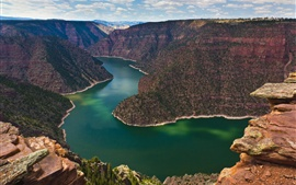 Canyon, river, nature landscape