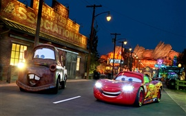 Preview wallpaper Cars 3, supercar, city, night, lights