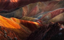 Chine, montagnes, couleurs, nature