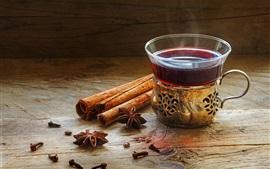 Preview wallpaper Cinnamon, star anise, tea