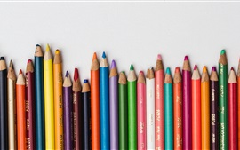 Preview wallpaper Colored pencils, colorful, white background