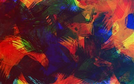 Colorful abstract picture, paint, texture