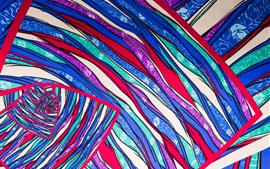 Preview wallpaper Colorful lines, stripes, cloth surface