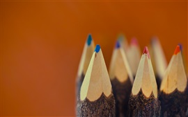 Preview wallpaper Colorful pencils, nib, macro