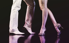 Preview wallpaper Dance, man and woman legs, shoes