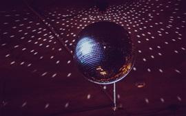 Disco bola luz, espelho, rotação