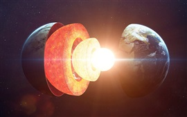 Earth core structure