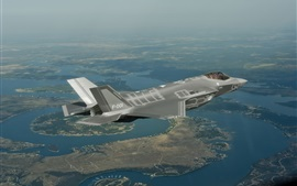 Preview wallpaper F-35 bomber flight, Lightning II