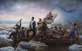 Знаменитые персонажи видеоигр, катание на лодках, вода