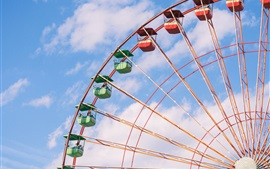 Preview wallpaper Ferris wheel, sky, clouds