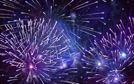 Fireworks, night, light