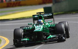 Preview wallpaper Formula 1 car speed, green color