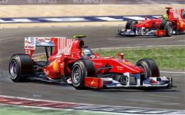 壁紙のプレビュー F1レース、赤いスーパーカースピード