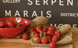 Preview wallpaper Fruit bowl, strawberry