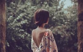 Aperçu fond d'écran Le dos de la fille
