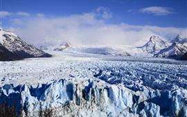 氷河、アルゼンチン、雪、山々