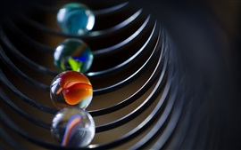 Bolas de vidro fotografia macro