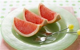 Preview wallpaper Grapefruit slice, spork