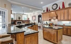 Diseño de cocina, muebles, estilo retro